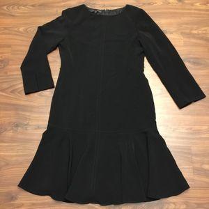 Anne Klein Low Waist LBD Black Midi Dress Size 14